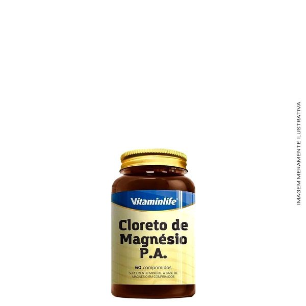 Cloreto de Magnesio P.A. 60 caps - Vitaminlife