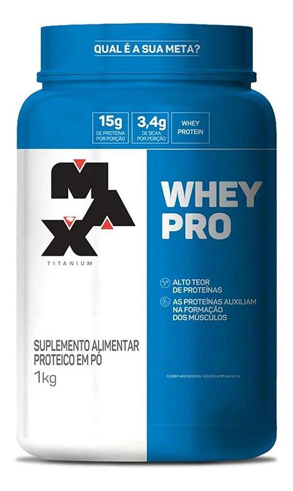 Whey Pro 1Kg Whey Concentrado - Max Titanium
