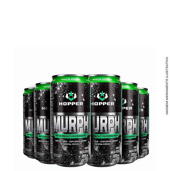 Murph Pre Workout Drink 269ml 6unidades Maça Verde - Hopper