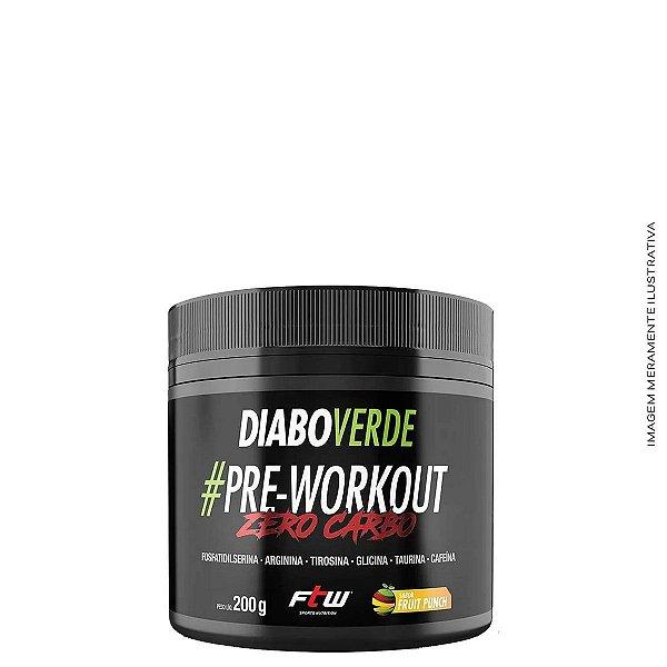 Diabo Verde Pre-Workout Zero Carbo 200g - FTW