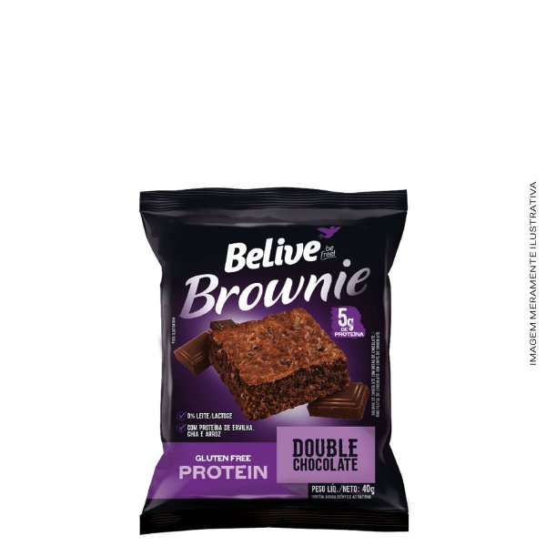 Brownie Protein Double Chocolate 40g - Belive