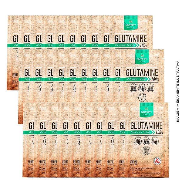 L-Glutamina Isolada Cx C/ 30 Sachês 5g cada - Nutrify