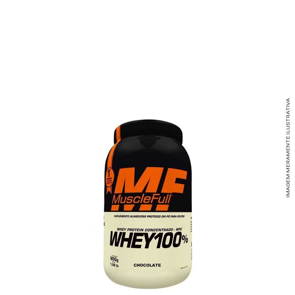 Whey Protein 100% Concentrado 900g - Muscle Full