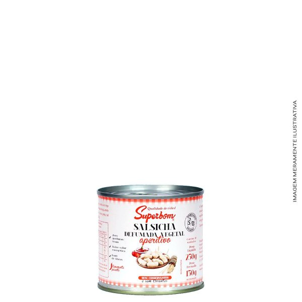 Salsicha Defumada Vegetal Aperitivo 250g - Superbom