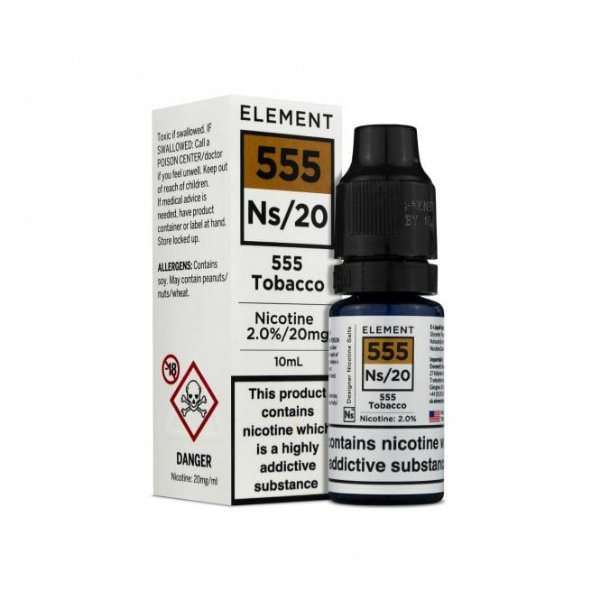 Element E-liquid - 555 Tobacco Nic salt