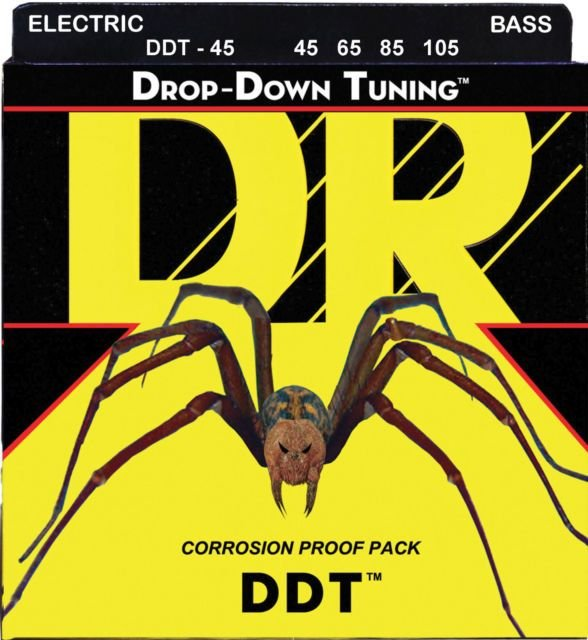 Encordoamento Dr Strings Contrabaixo 4 Cordas (.045-.105) - DDT-45 - Drop-Down Tunning