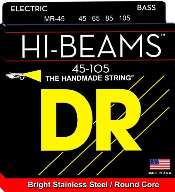 Encordoamento Dr Strings Contrabaixo 4 Cordas (.045-.105) -MR-45- HI-Beams-Brigth Stainless
