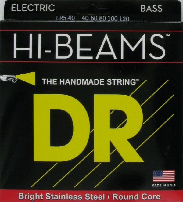 Encordoamento Dr Strings Contrabaixo 5 Cordas (.040-.120) -LR5-40- HI-Beam- The Handmade strings