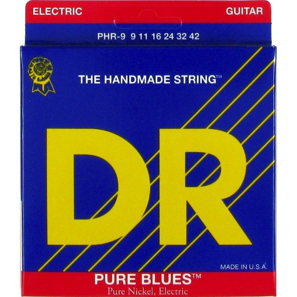 Encordoamento Dr Strings guitarra 6 Cordas (.09-.042) - PHR-9-The Handmade Strings Pure Blues