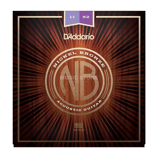 Encordoamento Violão Daddario 6 Cordas (.011-.052) - Custom Light Gauge - (NB1152) - (Nickel/Bronze)