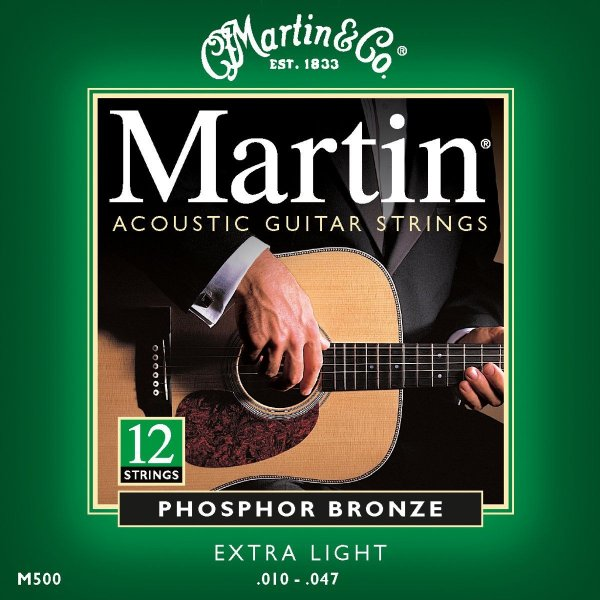 Encordoamento Violão Martin 12 cordas - M500 - (.010-.047)