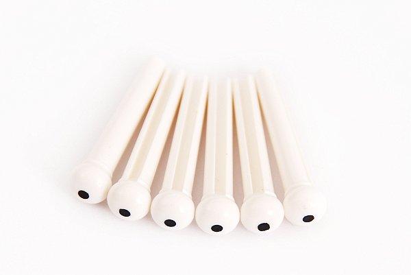 Pino para Violão- Branco- Jogo com 6 unidades