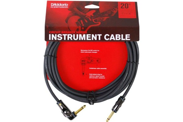 CABO P10 COM INTERRUPTOR PARA INSTRUMENTOS - PLANET WAVES - 6,10M