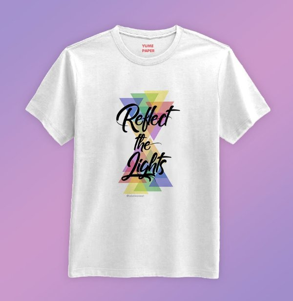 Camiseta - BLANC7 Reflect the lights
