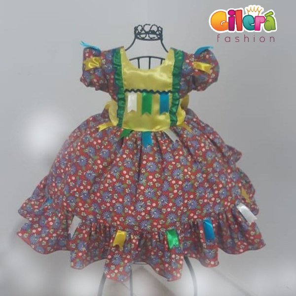 Vestido Infantil de Festa Junina