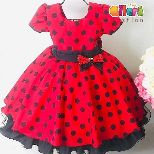 Vestido Infantil Tema Festa Joaninha Vestido para Meninas Vestido Elegante Princesas