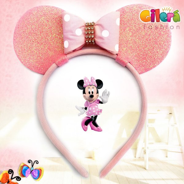 Tiarinha Infantil Minnie Rosa