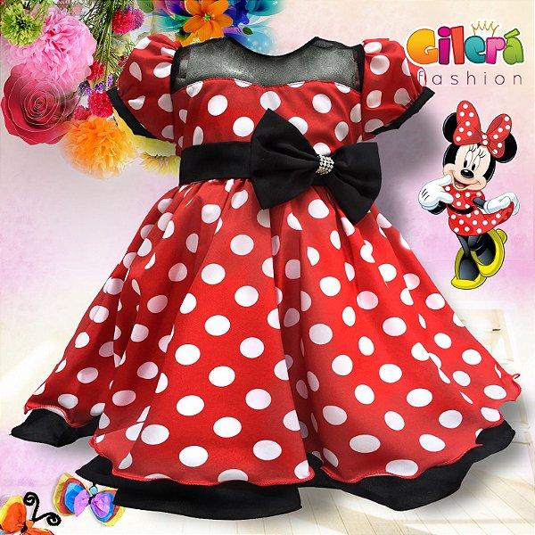 Vestido Infantil Para Festa Tema Minnie
