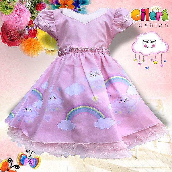 Vestido Infantil De Festa Luxo Chuva De Amor Bênção