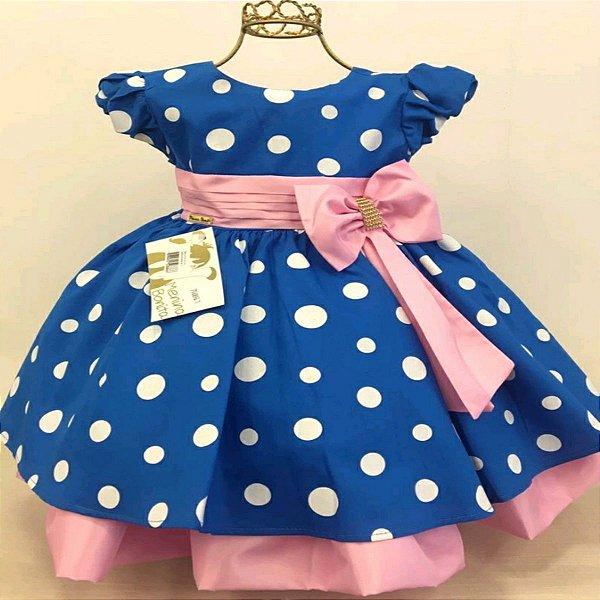 Vestido Infantil de Luxo Tema Galinha Pintadinha Rosa