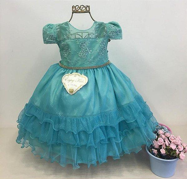 Vestido Infantil de Festa Tema Ariel