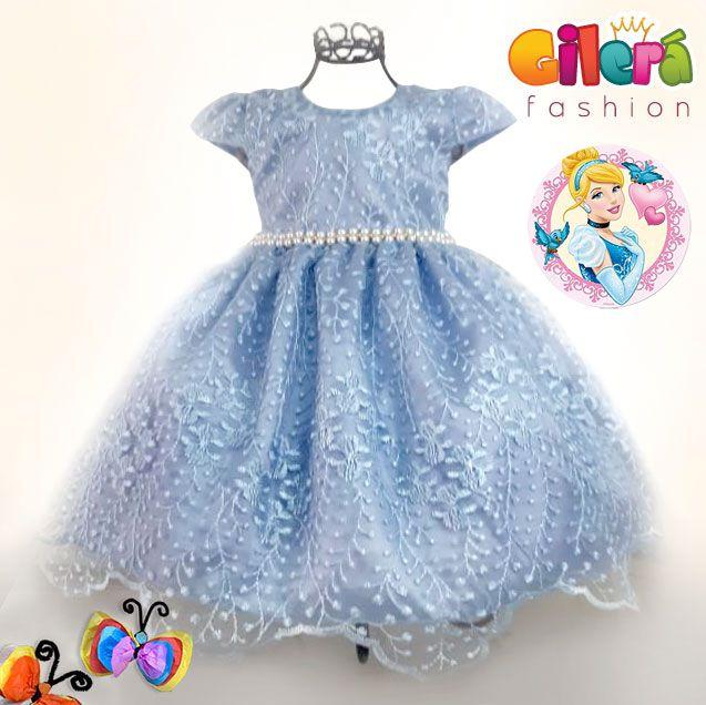 Vestido Infantil Festa Luxo Cinderela Realeza