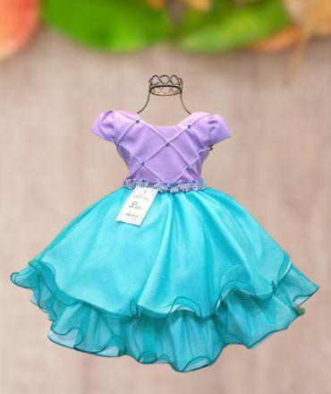 Vestido Infantil Tema  Pequena Sereia