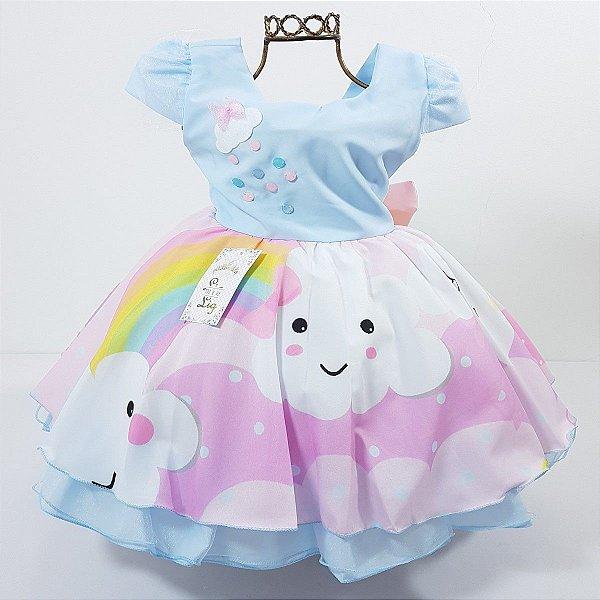 Vestido Infantil de Festa Tema Chuva de Amor