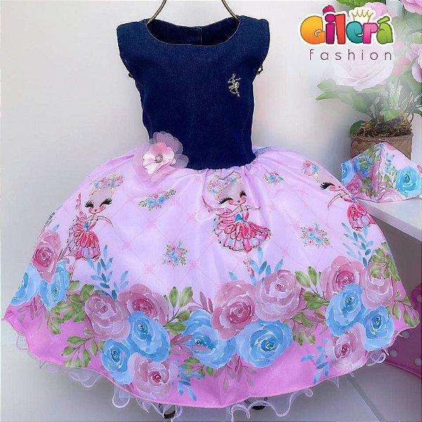Vestido Infantil Bailarina Floral