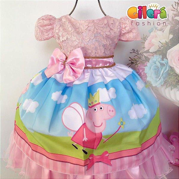 Vestido Infantil de Festa Peppa