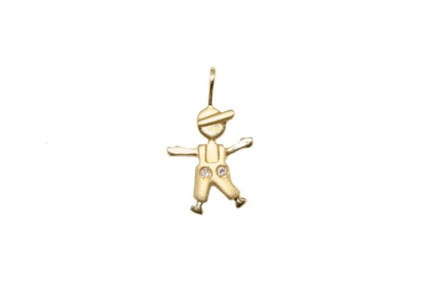 398a05b953834 Pingente Menino Ouro 18k Diamante - Retran Joias