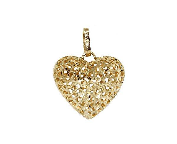 326fc6ed83576 Pingente Coração Ouro 18k - cod.8689 - Retran Joias