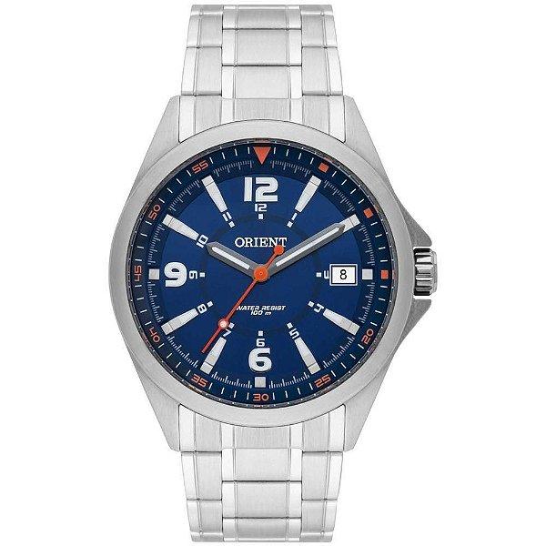 Relógio Orient Masculino Analógico Prata Azul Mbss1270 d2sx - Retran ... 1482e61d5a