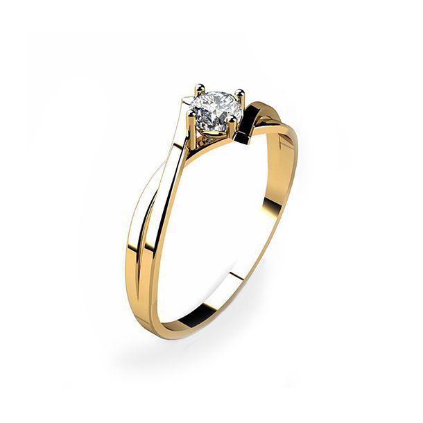 ef040746d39d0 Anel Solitário Ouro 18k Com Pedra Zircônia 15 Pontos - cod.11024 ...