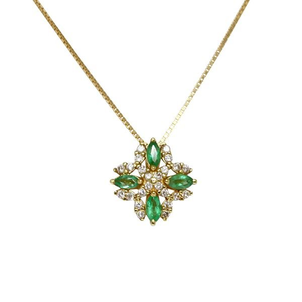 7b890f14dc45e Gargantilha Ouro 18k Esmeraldas e Diamantes - cod.4805 - Retran Joias