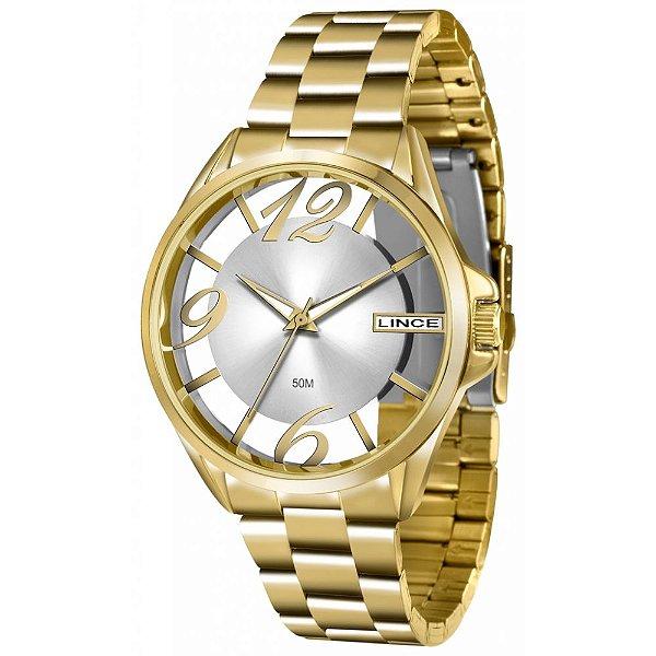 9c54eb8735f Relógio Feminino Lince Analógico Dourado Lrg604l - Retran Joias