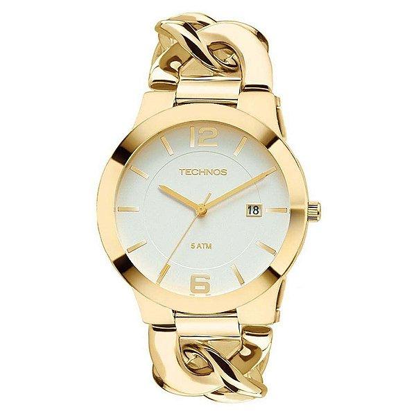 446e677aacd Relógio Technos Feminino Dourado 2115ul 4b - Retran Joias