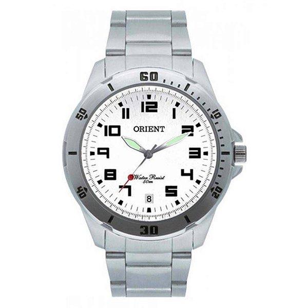 fdd66a14938 Relógio Orient Masculino Prata Esportivo Mbss1155a S2sx - Retran Joias