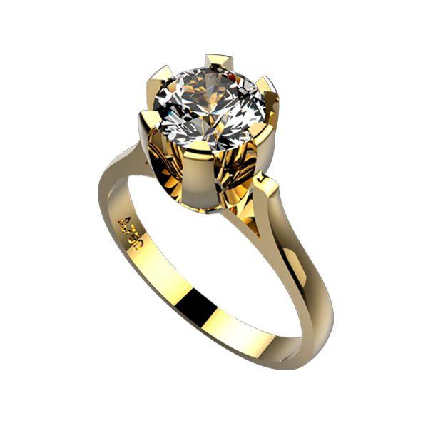 0a83b289e8e Anel Solitário Ouro 18k Com Diamante de 1 Quilate - cod.3203 ...