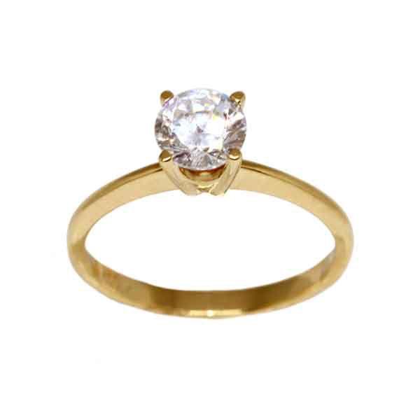 f09ad86ddc42f Anel Solitário Ouro 18k Com Pedra Zircônia - cod.13935 - Retran Joias