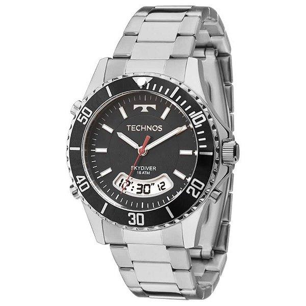 a034e0eb9ef Relógio Technos Masculino Prateado Elegance SkydiverT205jb 1p ...