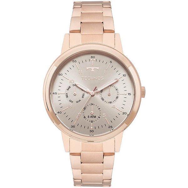 527123b729c Relógio Technos Feminino Coleção Crystal Rosê 6p29ajg 4c - Retran Joias