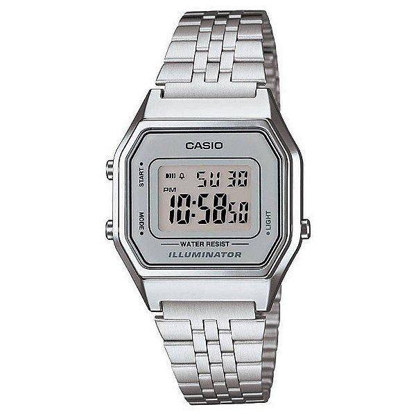 ad7e0ee3554 Relógio Casio Vintage Feminino Prata La680wa7df - Retran Joias