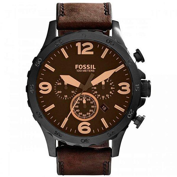 d0ee2897bc8 Relógio Fossil Masculino Preto Marrom Jr1487 0mn - Retran Joias