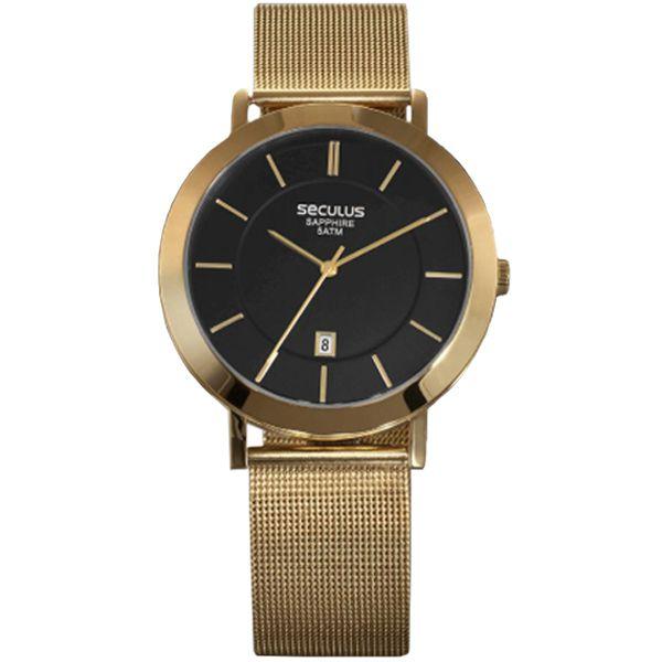 6beeb43755d25 Relógio Seculus Unissex Dourado 23659gpsvda1 - Retran Joias