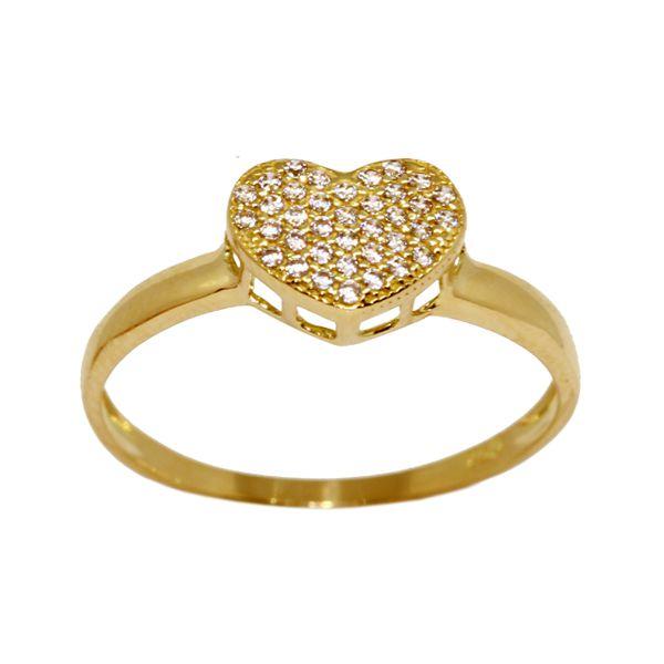 Anel Coração Ouro 18k Zircônias - cod.13166 - Retran Joias b3ec86a12d