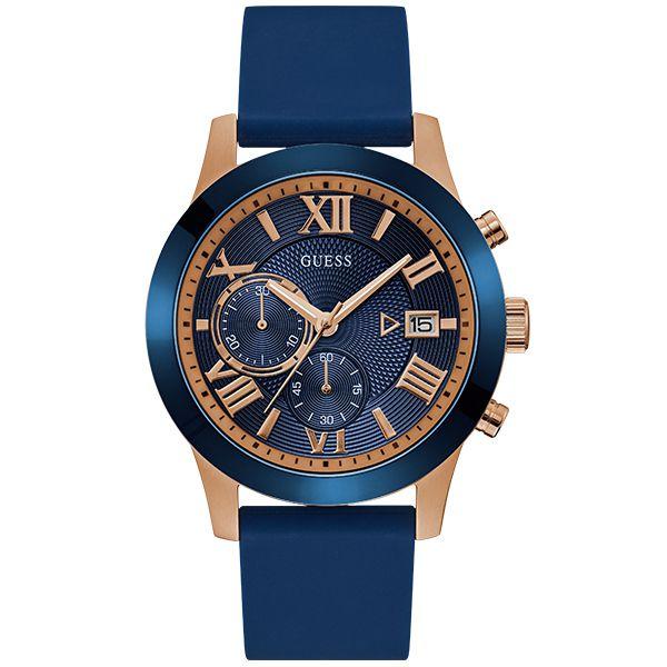 884f658915cb9 Relógio Guess Masculino Rosê Azul 92722gpgdru2 - Retran Joias