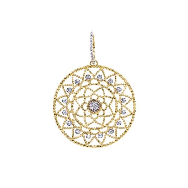 761cb2f685e95 Pingente Mandala Ouro 18k Zircônias - cod.20687 - Retran Joias
