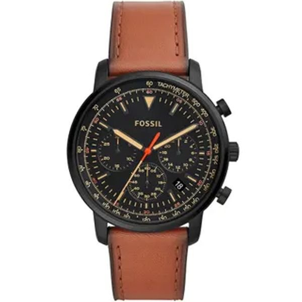 52487c51c97 Relógio Fossil Masculino Preto Marrom Fs5501 0pn - Retran Joias