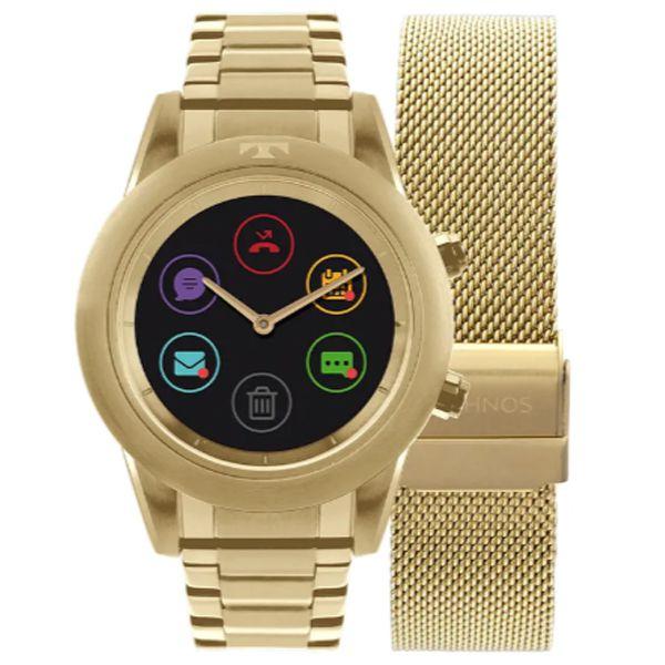 Relógio Technos Feminino Connect Duo Dourado P01ac 4p - Retran Joias d8fa432ea0